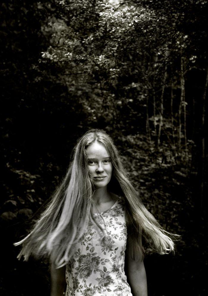Maja flicka hår porträtt