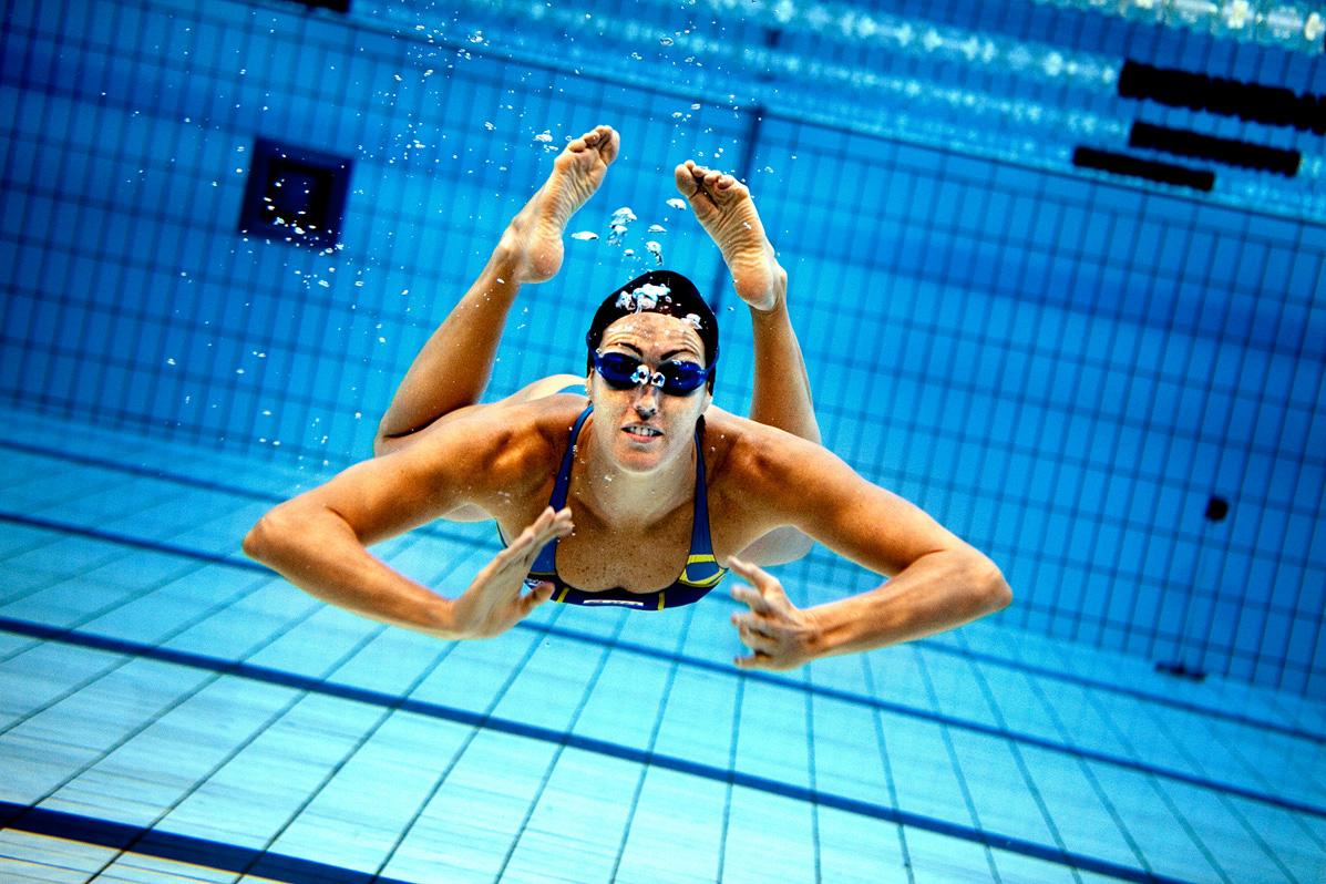 Therese Alshammar simning OS 2008 bassäng